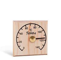Термометр квадратный, сосна Sawo 105-H