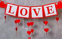 """Гирлянда """"LOVE"""" + сердечки, фото 1"""