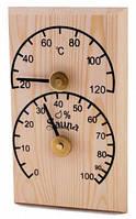 Термо-гигрометр прямоугольный сосна Sawo 106-TH