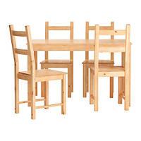 Стол + 4 стула INGO / IVAR