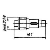 03-04-36  Вал-шестерня КШП-3М (погрузчик Р6-КШП-6) z=15, m=4