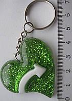 Брелок  сердце  длина с кольцом  7,0  см.