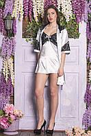 Стильный ночной женский комплект с халатиком