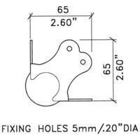 Угловая связка C1385z шаровая 65х65мм сталь 2,0мм оцинкованная. Для профиля с полкой 30х30, 35х35мм. Есть выемка для связки С1339z