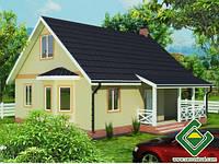 Строительство дома из сип панелей 121,05 м.кв., «ЯСОН 2»