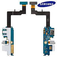 Шлейф для Samsung Galaxy S2 Plus i9105, коннектор зарядки, микрофона, с компонентами, оригинал