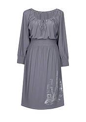 Платье с рукавами на резинке Париж / разм. до 64+ / больших размеров /