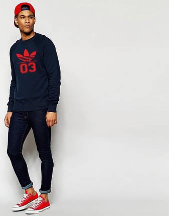 Мужской Свитшот Adidas (с красным принтом), фото 2