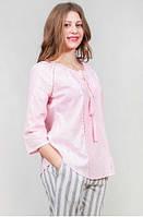 Модная коттонновая блуза с 3/4 рукавом