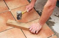 Работа - укладка керамической плитки
