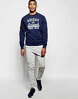 Мужской Свитшот Adidas т.синий(большой принт)