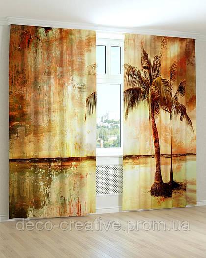 Фотошторы одинокая пальма