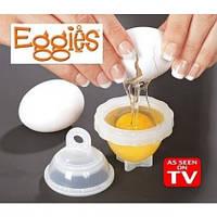 Набор для варки яиц без скорлупы из 6 шт+ ложка для отделения желтка от белка.
