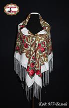 Женский белый павлопосадский платок Анастасия, фото 3