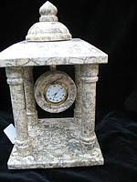 Часы каминные настольные -Пагода из натуральной яшмы