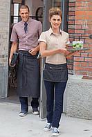 Фартук джинсовый с молнией для официанта и бармена мини