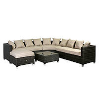 Угловой диван из ротанга