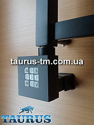 Чёрный квадратный ТЭН TERMA KTX2 MS регулятор 30-60С + таймер 2 ч. + маскировка кабеля. Мощность: 120-1000W