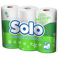 Кухонные полотенца Solo рециклинг белые 3 шт