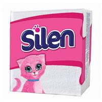 Гигиенические салфетки Silen белые, 24х24 см, 75 шт