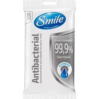 Влажные салфетки Smile Antibacterial с D пантенолом 15 шт