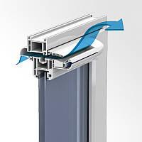 КОМПЛЕКТ Припливне віконний клапан ЕНА 2 білий з акустичним козирком, фото 1