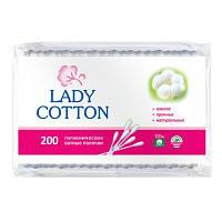 Lady Cotton Палочки ватные в полиэтиленовом пакете 200 шт