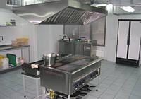 Зонт островной с фильтрами с подсветкой 2000х1100х400 мм из нержавеющей стали
