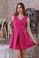 Красивое облегающее жаккардовое платье без рукава.