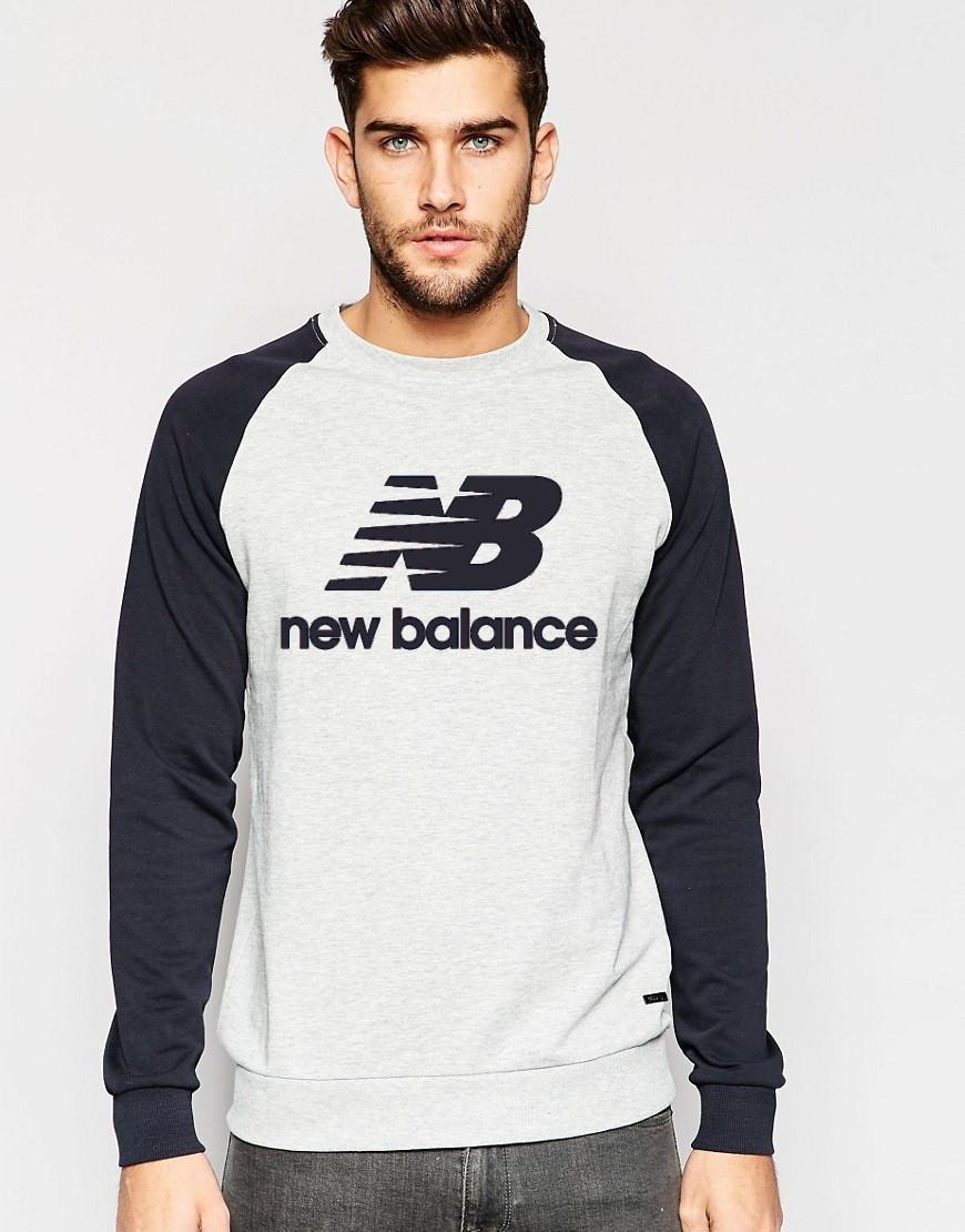 Мужской Свитшот New Balance с черным рукавом