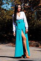 Шикарное платье в пол Гипюр на подкладке, габардин С М. Длина 165см  Арт. 153АР