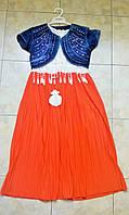 Шифоновое платье + джинсовое болеро 12-16 лет Турция
