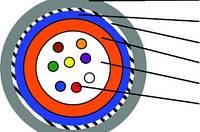 Кабель оптический 4  волокна, SM, броня