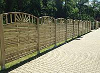 Деревянный забор декоративный