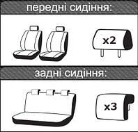Автомобильные чехлы ВАЗ (Lada) Largus 2012 -> цельная задняя спинка, фото 1
