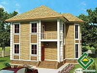 Строительство дома из сип панелей 163,58 м.кв., «АДЕЛЬ»
