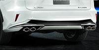Спойлер задн. бампера + спорт. глушитель Lexus RX200t