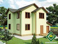Строительство дома из сип панелей 164,02 м.кв., «ПИРЕЙ»