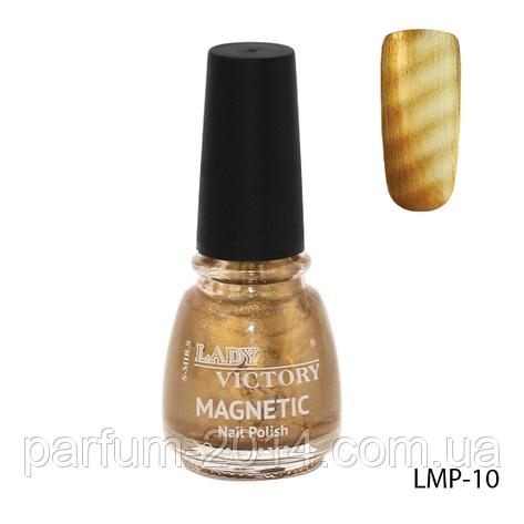 Магнитный лак для ногтей «Magnetic» Lady Victory LMP-10, фото 2