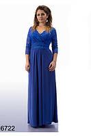 Женское длинное вечернее платье (р. 50-56)