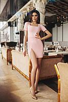 Женское нежное короткое платье