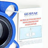 Затвор поворотный Баттерфляй AYVAZ тип KV3 Ду150 Ру16 диск нержавеющая сталь , фото 7