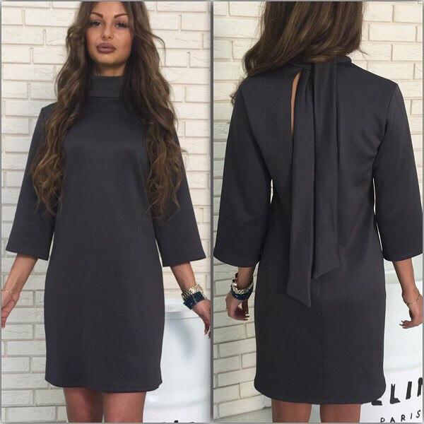 Завязки на спине платья