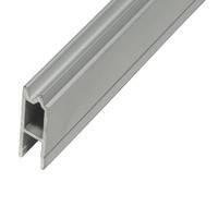 Профиль NC2HE алюминиевый с пазом 7мм гибрид, для N-Case 2 Case System. Совместим с пластиковым уголком NC2HCBK и NC2HCLK, фото 1