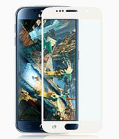 Защитное стекло Calans 2.5D 9H на весь экран для Samsung Galaxy S6 G920 белый