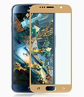 Защитное стекло Calans 2.5D 9H на весь экран для Samsung Galaxy S6 G920 золотой