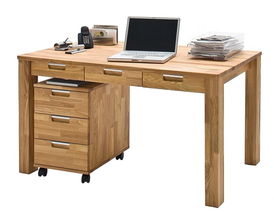 Стол письменный компьютерный из массива дерева 048