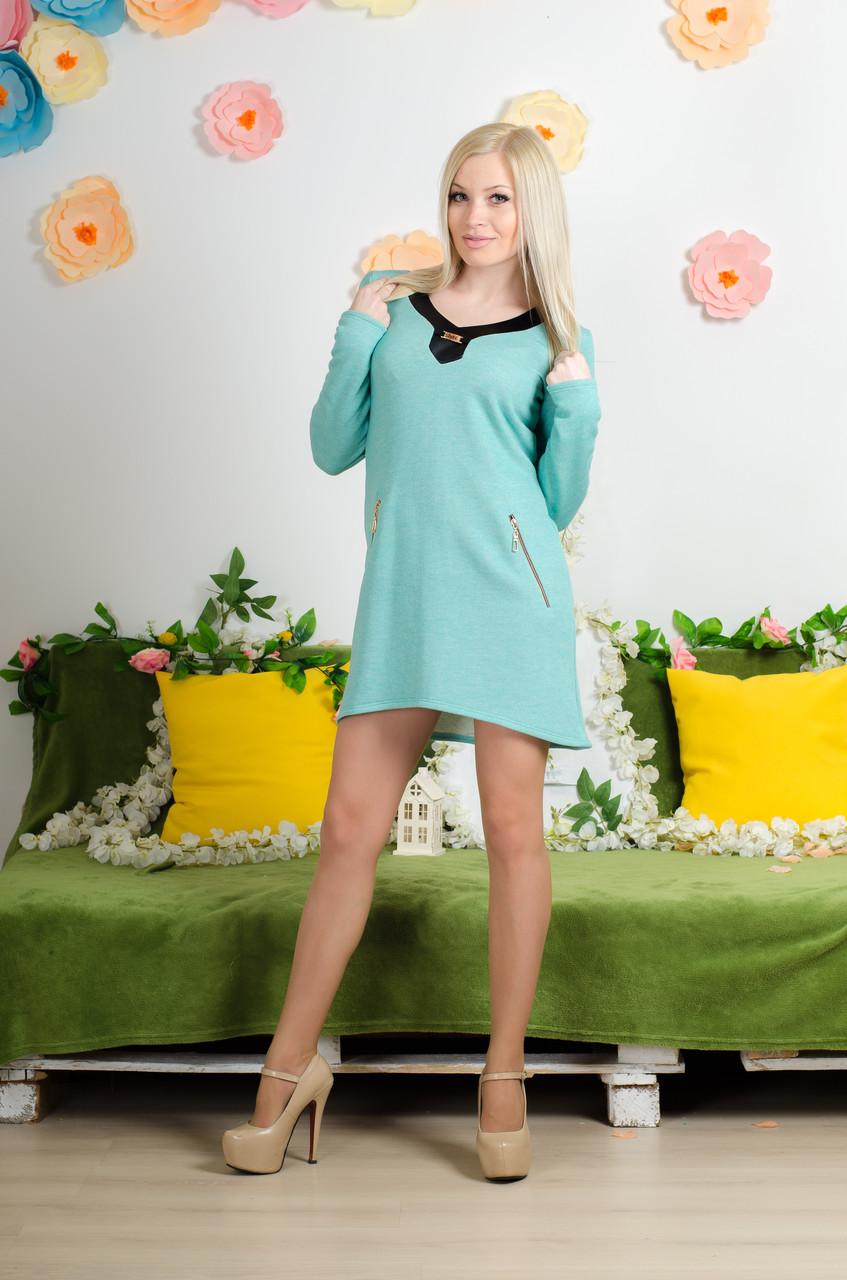 Платье трикотажное мята