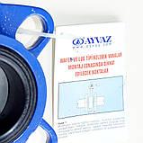 Задвижка поворотная Баттерфляй AYVAZ тип KV7 Ду80 Ру16 диск чугун, фото 7