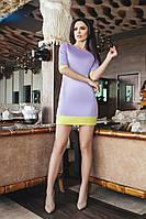 Платье с карманами из дайвинг ткани